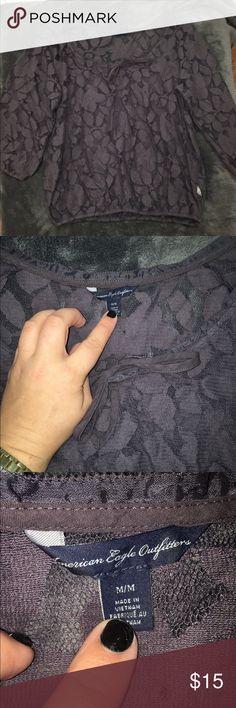 American Eagle Lace Top Purple American eagle  Lace top size medium American Eagle Outfitters Tops Blouses