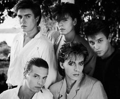 """Iconic image #4 - I remember seeing this photo in a Toronto Star ad promoting DD's """"Sing Blue Silver"""" tour in 1984. Practically every girl in my grade was going to see the band except me (parents forbade me attending concerts). I stared at this photo for a long time to comfort me."""