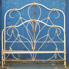 Antique Iron Beds, Vintage Bedrooms, Iron Headboard, Scroll Design, Cozy Bedroom, Victorian Homes, Candle Sconces, Wall Lights, Candles