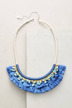 Slide View: 1: Acalia Fringed Collar Necklace