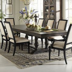 Pulaski Montserrat Rectangular Dining Table - Distressed Brown | from hayneedle.com
