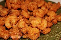 Fresh Gulf Coast shrimp,  dusted with a light coating of seasoned flour & deep fried to crunchy perfection.