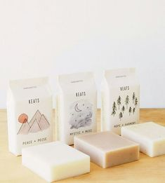 Peace, Mystic & Hope Soap Trio by KEATS on Scoutmob (Beauty Design Packaging) Soap Packing, Pretty Packaging, Simple Packaging, Candle Packaging, Handmade Soap Packaging, Beauty Packaging, Gift Packaging, Savon Soap, Brand Packaging