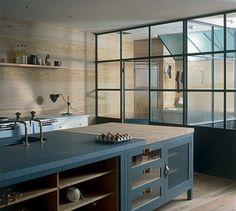 Crittal windows in Plain English kitchen