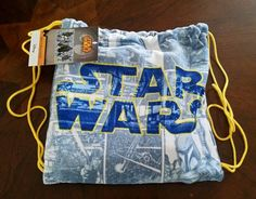 NWT Star Wars 2 Piece Beach Towel and Drawstring Tote Set