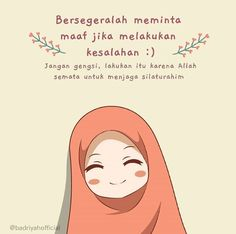 Reminder Quotes, Self Reminder, Love Me Quotes, Cute Quotes, Muslim Quotes, Islamic Quotes, Islamic Cartoon, Hijab Cartoon, Cartoon Quotes