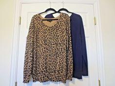 Lane Bryant Lot Front Button Sweaters Cardigan PLUS SIZE 18/20 Animal Print Blue #LaneBryant #Cardigan