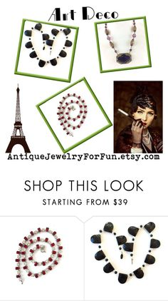 """""""Art Deco"""" by renee-worthen ❤ liked on Polyvore featuring vintage"""