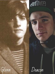 Glenn Frey and his son Deacon.   Deacon looks a lot like his Dad next to this teenage picture of Glenn.