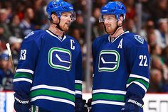Vancouver, B. – Vancouver Canucks President & General Manager Michael D. Gillis announced today that the Canucks have re-signed forwards Daniel and Henrik Sedin to four-year contracts t… Henrik Sedin, Vancouver Canucks, Hockey Players, Paul Mccartney, Espn, Nhl, Twins, Sports, Ranger