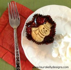 Adorable and super easy  mini cherry cupcake pies!  Kids will love them with whipped cream or vanilla bean ice cream.  #HolidayIdeaExchange