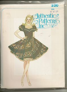 Authentic Patterns  Square Dance Dress 320 uncut
