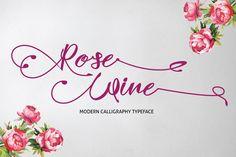 Rose Wine - Creative Fabrica