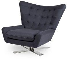 Designerski fotel VEGAS      Wygodna poduszka na siedzisku tego nowoczesnego fotela i szerokie oparcie zapewniają wysoki komfort użytkowania. Zrelaksuj się po ciężkim dniu! Fotel obrotowy.