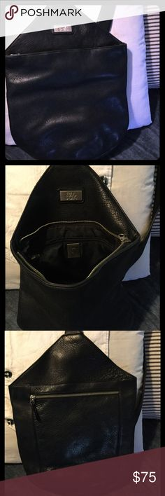 """🌻 The Sac 🌻 Supple Black Leather 🛍 Used Only Once On Weekend Trip ✈️ Superb Condition 🛍 Leather is so soft, Cross-body strap perfect width for your shoulders (will not dig in) 🌻 Large zip main compartment 💗 w/nice zip pocket inside 💗 Back side features roomy zip pocket 💕 Truly a """"Must Have"""" Bag! The Sac Bags Crossbody Bags"""