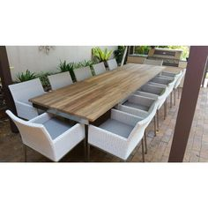 Marseilles Extension Table with Intani Chairs - 13pc | outdoor setting