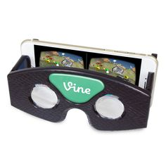 Virtual Reality Viewer.  Introduce your current clients to virtual reality and create trade show buzz. Start any virtual reality app, insert your phone into the VRV and look through the lenses! Works on iPhone and Android. Hundreds of virtual reality apps now available for download through the Google Cardboard app, Google Play Store or the Apple App Store. Thousands of full 360 degree videos on YouTube's 360Video channel. #tradeshow giveaways