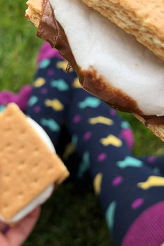 There's no better way to celebrate National Graham Cracker Day than with a s'more and matching socks! Matching Socks, Graham Crackers, Desserts, Fun, Stuff To Buy, Tailgate Desserts, Deserts, Dessert, Lol