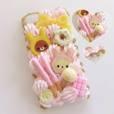 Custom case for the wonderful Kawaii Phone Case, Decoden Phone Case, Diy Phone Case, Cute Cases, Cute Phone Cases, Iphone Cases, Diy Arts And Crafts, Diy Crafts, Kawaii Diy