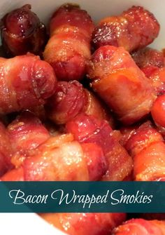 Bacon Wrapped Brown Sugar Smokies-Crockpot warming version