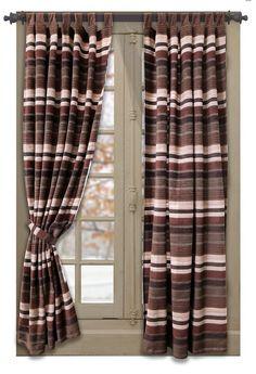 Desert Striped Curtain Panels