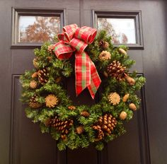 Ready To Ship Pine Cone WreathChristmas Wreath by JadieAcresFarm, $45.00