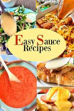 Easy sauce recipes for beginner level cooks; sauce for fish, chicken, pasta, seafood and more Easy Sauce Recipe, Sauce Recipes, Fish Recipes, Beef Recipes, Chicken Recipes, Easy Recipes For Beginners, Cooking For Beginners, Fish Sauce, Enchiladas