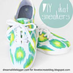 DIY Dyed Ikat Sneakers Tutorial
