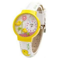 Yellow Bird Fashionable Polymer Clay Watch by thisismystore007, $28.99
