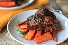 Balsamic Braised Beef Short Ribs |Paleo