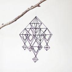 I Love Handmade: Himmeli No. 5 Modern Mobile by AMradio Handmade Ornaments, Handmade Items, Mobiles, Blog Deco, Decoration, Geometry, Diy Crafts, Crafty, Creative