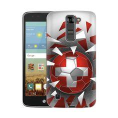 LG K8 Soccer Ball Switzerland Flag Slim Case
