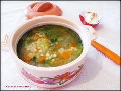 Supă de salată cu cous-cous Supe, Cheeseburger Chowder, Food, Essen, Meals, Yemek, Eten