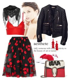 """Untitled #2575"" by carolinarcieri on Polyvore featuring éS, Balenciaga, Simone Rocha, Givenchy, T By Alexander Wang, Gucci, Alexander McQueen and BaubleBar"
