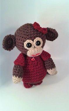 Crochet Monkey Amigurumi Stuffed Animal by MizJenniesCrochet