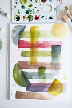 Our Love, Plastic Cutting Board, Watercolor Paintings, Diy, Handmade, Inspiration, Watercolors, Main Colors, Color Boards