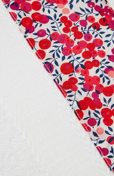 Flowers of Liberty Floral Trim Hand Towel   Nordstrom