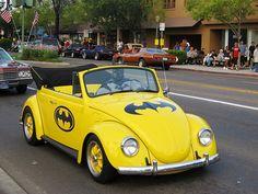 Batman Beetle. LOOK AT THE DRIVER.....IT'S BATMAN!!!!!
