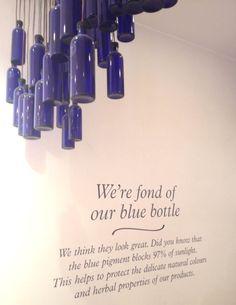 We're fond of our blue bottles... #nealsyard #london #nealsyardremedies #bluebottles #natural #organic #naturalbeauty