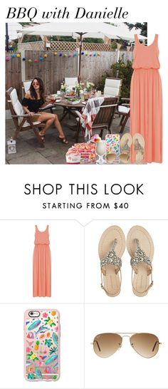 """""""BBQ with Danielle"""" by mllestylesusa ❤ liked on Polyvore featuring Antik Batik, Casetify, Ray-Ban and Disney"""