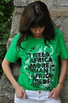 Green I Need Africa T-Shirt on *SALE* only $10.  #INA #ineedafrica