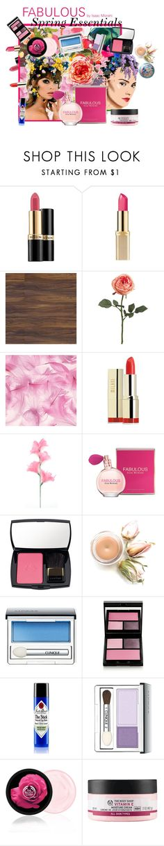 """Spring Essentials Bursting with Beauty"" by cocodobard ❤ liked on Polyvore featuring beauty, Revlon, L'Oréal Paris, Chanel, Milani, Isaac Mizrahi, Lancôme, Clinique, Surratt and Jack Black"