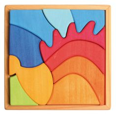 beautiful wooden jigsaw. Be creative and make a different shape! Grimm's Toys First Creative Puzzles - Hedgehog