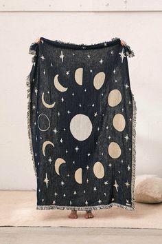 Calhoun & Co. Moon Phases Throw Blanket | Urban Outfitters