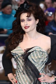 Helena Bonham Carter wears a larger-than-life burlesque inspired look at the Dark Shadows premiere |15 Gothic Red Carpet Looks #hair #style
