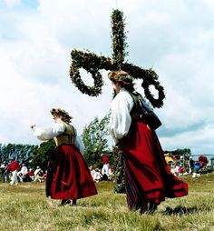 (The Swedish) Midsummer Day was originally celebrated on 24 June to commemorate John the Baptist.  In agrarian times, Midsummer celebrations in Sweden were held to welcome summertime and the season of fertility. In some areas, therefore, people dressed up as 'green men', clad in ferns.