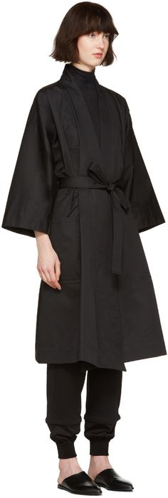 Nehera - Black Kimono Trench Coat