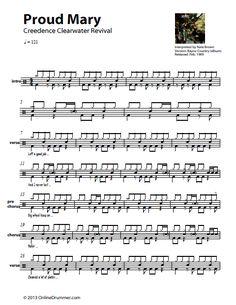 Proud-Mary_CCR_Drum-Sheet-Music_Thumbnail