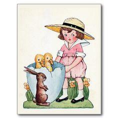 """Happy Easter"" Vintage Post Card"