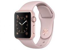 Apple Watch Series 1 38mm Alumínio 8GB Esportiva - Areia-Rosa